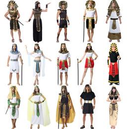Costumi egiziani online-Costume cosplay per feste Tema di Halloween Costume cos Antica regina romana Principessa Abbigliamento nazionale per adulti Abbigliamento faraone egiziano 06