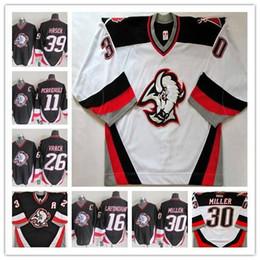 2019 billige authentische nhl hockey trikots Benutzerdefinierte Männer Buffalo Sabres Eishockey ccm Trikots Evander Kane11 Gilbert Perreault 16 Pat LaFontaine 26 Thomas Vanek Ryan Miller Dominik