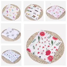 2019 cadeau garçon Couvertures pour bébé Coton Flamingo Rose Fruits Imprimer mousseline Couvertures de bébé Literie Infant cadeau garçon pas cher