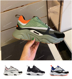 zapatos de goma para las mujeres de china Rebajas Hombres Mujeres Diseñador de lujo Lona Piel de becerro Zapatos casuales Zapatillas Moda Blanco Rosa 22 Hommer Zapatos de malla técnica de punto chaussures