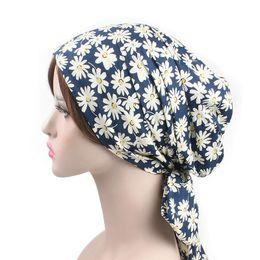 cheveux musulmans Promotion Nouvelle Mode Femme Musulmane Hijabs Turban Tête Chapeau Chapeau Bonnet Dames Accessoires De Cheveux Musulman Écharpe Chapeau Perte De Cheveux