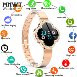 gold blood Coupons - MNWT Women Sport Smart Watch Waterproof Women Heart Rate Monitor Blood Pressure Fitness Tracker Smartwatch For ios Android