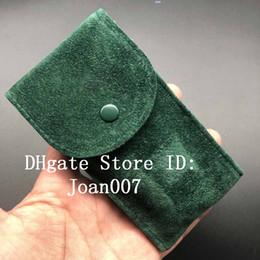 bolsa de regalo de franela Rebajas La mejor calidad suave franela estuche protector del reloj de la bolsa verde para relojes Rolex bolsillo regalo regalo bolsa de almacenamiento verde