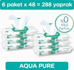 Prima toalhetes húmidos do Aqua Pure pacotes individuais 48 Folha * 6 (288 folhas) do navio da Turquia HB-003632765 de