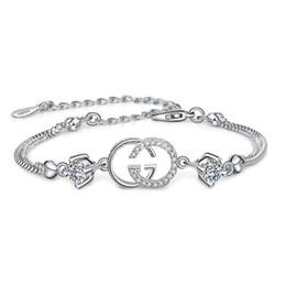 Горячий бренд дизайнер браслет для женщин подвески браслеты Белый Фиолетовый Кристалл для женщин Серебряный еврей люблю ваш браслет для женщин бесплатная доставка от