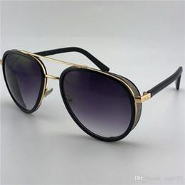 2019 gafas de sol laterales Gafas de sol clásicas de diseño de estilo clásico de moda con marco de placa piloto con lentejuelas de cristal gafas de protección uv 400 de alta calidad rebajas gafas de sol laterales