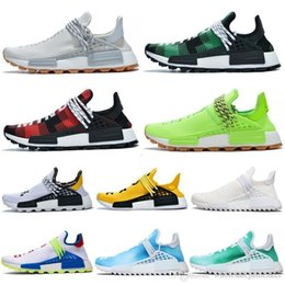 NMD Human Race Hu Trail PW Chaussures de course Pharrell Williams Digijack pack BBC crème Nerd Know âme Femmes Hommes Baskets sport Chaussures de