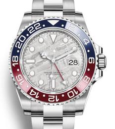 Gmt uhrwerks online-Luxus GMT Keramik Lünette Herren Mechanische Edelstahl Automatische 2813 Bewegung Designer Uhr Master Herrenmode Uhren Armbanduhren