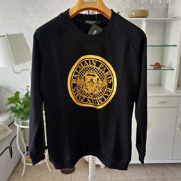 juegos de chica americana Rebajas Hombre diseñador de camisetas negro blanco diseño de la moneda para hombre diseñador de moda camisetas top print manga larga s-xxl ljja2374