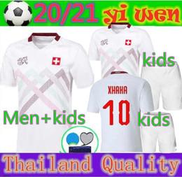 2020 camicie da calcio a squadre suisse 2020 2021 Svizzera pullover di calcio di distanza bianche 20 21 Svizzera Akanji Zakaria Rodriguez Elvedi della nazionale maglie da calcio camicie da calcio a squadre economici