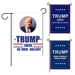 impianti di protezione da giardino Sconti Trump Garden Flags 30 * 45 CM Presidente Elezione Generale Banner 2020 Trump Bandiera Poliestere Panno Pennant Banner Bandiere TTA766