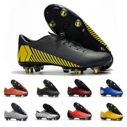 2019 sapatos cr7 crianças pretas 2019 Vermelho amarelo mens chuteiras de futebol Mercurial superfly 360 VII Elite SG AC chuteiras de futebol Neymar botas chuteiras tênis