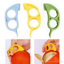 Schiff geformte maus online-Freies Verschiffen Maus Form Zitronen Orange Citrus Opener Peeler Remover Slicer Cutter Schnell Stripping Kitchen Tool