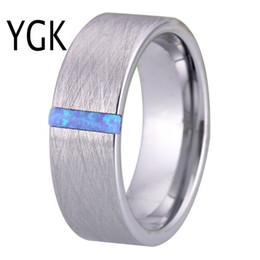 Opala homens prata anel on-line-Clássico Anéis De Casamento para Mulheres Dos Homens Anel de Noivado de Moda de Prata Escovado Com Opala de Pedra Anel de Festa de Aniversário Da Jóia de Noiva