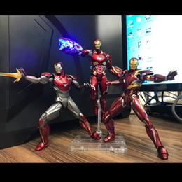 Vingadores super heróis homem de ferro on-line-2019 Figuras de Ação Marvel Os Vingadores homem de ferro mrke50 brinquedos modelo boneca Super hero MK50 MK46 MK47