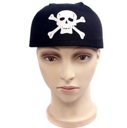 Skull Pirate Captain Hats Scarf Skull Caps Fiesta Disfraces de Halloween  Vestir Sombrero por diversión 5ffed9d50bd