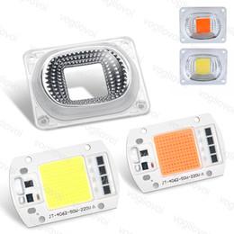 chip de cultivo de mazorca Rebajas Grow Light COB AC220V 110V 20W 30W 50W Chip Led Bead con transformador para proyectores Luz de inundación DIY Highbay Spotlight lámpara exterior