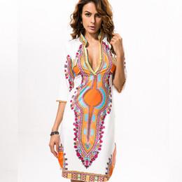 2019 Sexy Robe D'épaule Femmes Africaines D'été Robes Africaines D'été pour Femmes Impression Dashiki Robe Femme Casual Vêtements Indiens ? partir de fabricateur