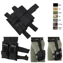 Airsoft Gear Assault Combat Camouflage Pack FAST Cartridges Clip Carrier Ammo Holder Tactical Mag Magazine Pouch with Leg Strap NO11 454
