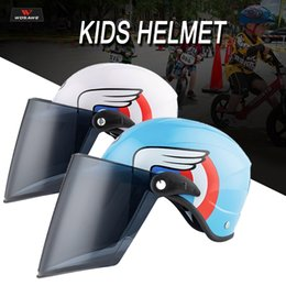 Wholesale Goggles ile Motosiklet Çocuklar Kask Güvenlik Kask Yarım For Kids Doğa Sporları Bisiklet Binme Koşu Paten