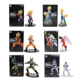 figures d'animaux de la forêt Promotion 11-21cm Dragon Ball Z Troncs De Légumes Fils Goku Gohan Cellule Frieza PVC Figurines figurines DRAMATIC SHOWCASE Modèle Jouet Poupée Figurines