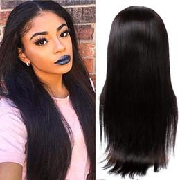 2019 malasia rizado u parte peluca 100% Peluca brasileña de cabello humano de la Virgen Pelucas sin cola Largas, sedosas, rectas, Pre pluck natural, con cabello de bebé para mujeres 26 pulgadas, 1B-Off negro