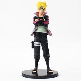2019 figura de mujer araña 2019 nueva 23cm juguete Naruto Uzumaki Boruto figura de acción modelo con base de negro de anime hijo Naruto Uzumaki Naruto Uzumaki Boruto figura de juguete de PVC