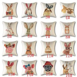 Cute Lovely Cat Decorative Cushion Cover in cotone lino quadrato Tiro Cuscino 45x45cm Cuscino Home Office Car Sofa Decor da cuscini carini per auto fornitori