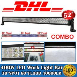 """Proyector de barco online-52 """"Pulgada 400 W Proyector Floodlight Coche LED Barra de luz de trabajo para barco camión 4x4 SUV Jeep Tractor Off Road conducción lámpara de niebla impermeable IP67"""