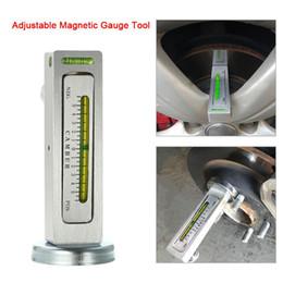 Cables de camiones online-Universal Ajustable Herramienta de Calibrador Magnético Camber Castor Strut Wheel Alignment Truck Car Camber Castor Strut Wheel Alignment Auto