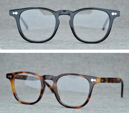 óculos de armação preta quadrada Desconto Homens Ópticos Óculos de Armação de Marca Designer de Óculos de Plank Vintage Óculos Quadrados para Homens Mulheres Preto Miopia Óculos de Armações com Óculos Caso