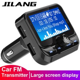 2019 синус автомобиля Jilang Fm передатчик Автомобильный Bluetooth приемник Автомобильный адаптер Handsfree Wirless Radio Kit LCD MP3-плеер с Dual USB зарядное устройство