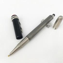 caneta esferográfica original Desconto 1912 série Heritage Clássico Preto Edição Especial caneta de luxo MBL Caneta Esferográfica Preta com caneta de presente Snake Clip original