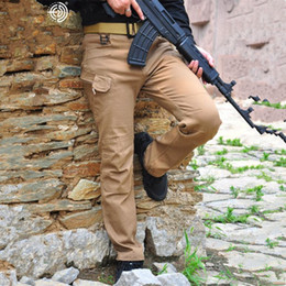 pantalones cargo marrón Rebajas Primavera Otoño Deporte al aire libre Militar Archon CEO policía Hombres Mezcla de algodón Pantalones cargo marrón verde Color sólido Empresa de bolsillo Costura Pantalones largos