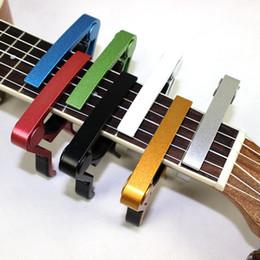 banjo de guitarra Rebajas Tune Quick Change Trigger Folk Acoustic Capos Guitarra eléctrica Banjo Trigger Capo Key Clamp Pin de liberación rápida DHL gratis