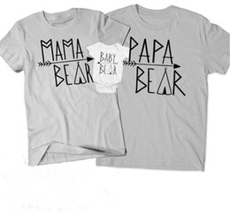 Camisas para la familia online-Madre e hijo Camiseta a juego Familia Trajes a juego Manga corta Carta Cuello redondo Pareja Ropa casual Romper para niños 32