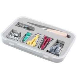 Bias Tape Maker 6MM 12MM 18MM 25MM Nuevo tejido Bias Binding Maker con el pie Binder Bradawl Clips para acolchar Kit de pasadores de costura desde fabricantes