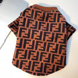 Camicia per cani di marca FF New Designer Pet Apparel Cute Dog Teddy Puppy Spring Outwear da