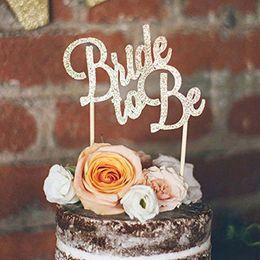 torta nuziale della spiaggia Sconti Sposa da essere Cake Topper Addio al nubilato ragazze notturne Festa nuziale Doccia spiaggia matrimonio matrimonio fidanzamento decorazione torta favore