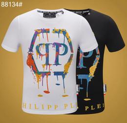 Xxxl designer t-shirts online-2019 Designer Herrenhemden Bekleidung Luxus Schädel Mode Sommer Kurzarm Hals Baumwolle VersandPhilipp Menplein Männer T-Shirt