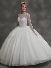 Shinning marfil rosa azul mangas perlas vestido de bola vestidos de novia Vestidos nupciales Vestidos de boda Vestidos Tamaño personalizado 2-16 KF1127167 desde fabricantes
