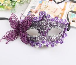 Palla da ballo pvc online-Maschera di pizzo farfalla Maschera di palla di farfalla sexy maschera per ragazze donne festa di ballo in maschera Belle maschere a metà faccia
