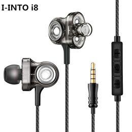 2019 bass germogli cuffie Vendita all'ingrosso i8 HIFI Earphone 3 Dynamic Bass Ear Buds In Ear Cuffie stereo Rock DJ con microfono per il telefono sconti bass germogli cuffie