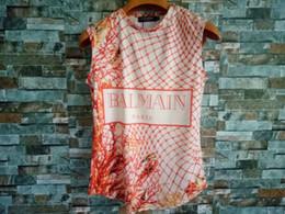roupas de marcas famosas Desconto Balmain Womens Designer T Shirt Famosa Marca de Roupas Femininas Top de Manga Curta Balmain Mulheres Camisas Designer de T-shirt Tamanho S-L
