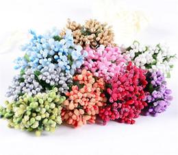 2019 stami di fiore artificiale New Décor 12 steli Fiore artificiale Stame filo stelo / matrimonio lascia stame Decorazione corona di fiori fai da te stami di fiore artificiale economici