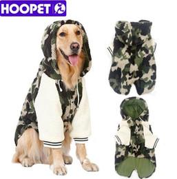 3XL-7XL HOOPET Hiver Chaud Grand Chien Polaire Vêtements Camouflage Survêtement Animal Manteau Hiver À Capuche Veste Deux Pattes Chien Vêtements ? partir de fabricateur