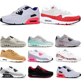 pretty nice a908e f7a4b 2019 hard drapeaux Nike air max 90 Chaussure de course pour homme  infrarouge International Flag Pack