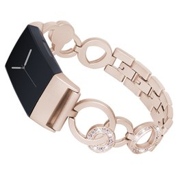 2019 металлический фибровый браслет SANYU Top  Stainless Steel Watch Band for Fitbit Charge 3 Watchband Replacement Wristwatch Metal Links Bracelet Strap дешево металлический фибровый браслет