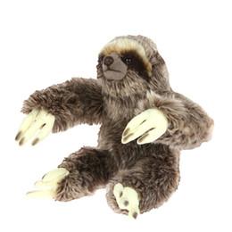 Детские игрушки онлайн-8.8дюймовый, наполненный первоклассным полипропиленовым хлопком, реалистичной плюшевой игрушкой, анимированным сидящим ленивцем, пушистая игрушка-чучело