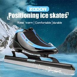 Facas de velocidade on-line-ZODOR 6 camadas Speed Carbon Ice Lâmina Skating Shoes metal Fix Localização faca que compete patins confortáveis PATINES Sneakers